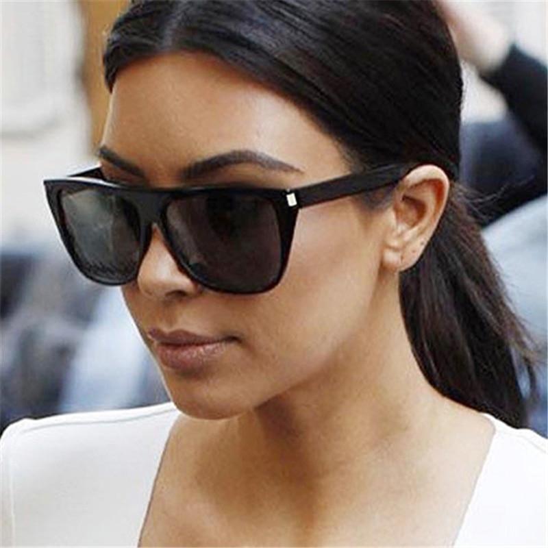 2844d878c79 YOOSKE Luxury Sunglasses Women Oversized Gradient Sunglasses Men Vintage  Flat top Eyewear UV400 Black Frame