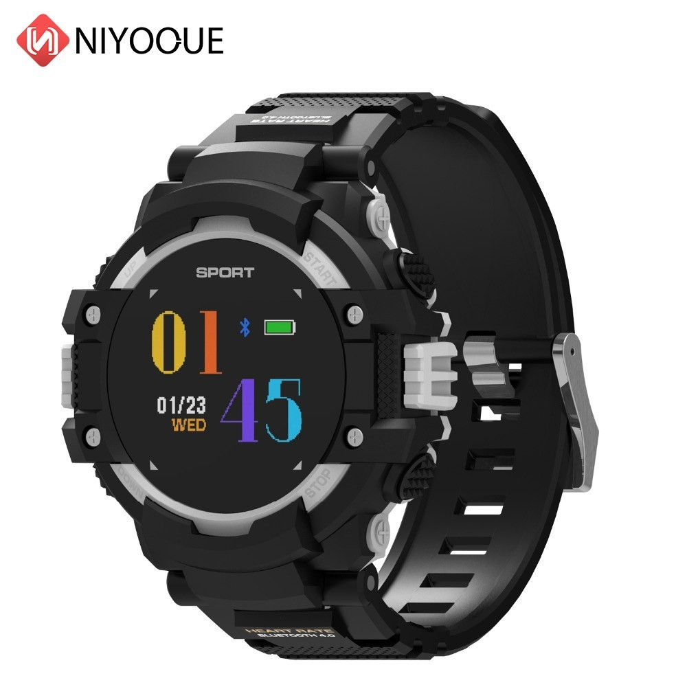 NIYOQUE GPS Smart Watch Man Color Screen LCD Realtime Heart Rate Temperature Monitor Multisport Outdoor Sport Fashion Smartwatch