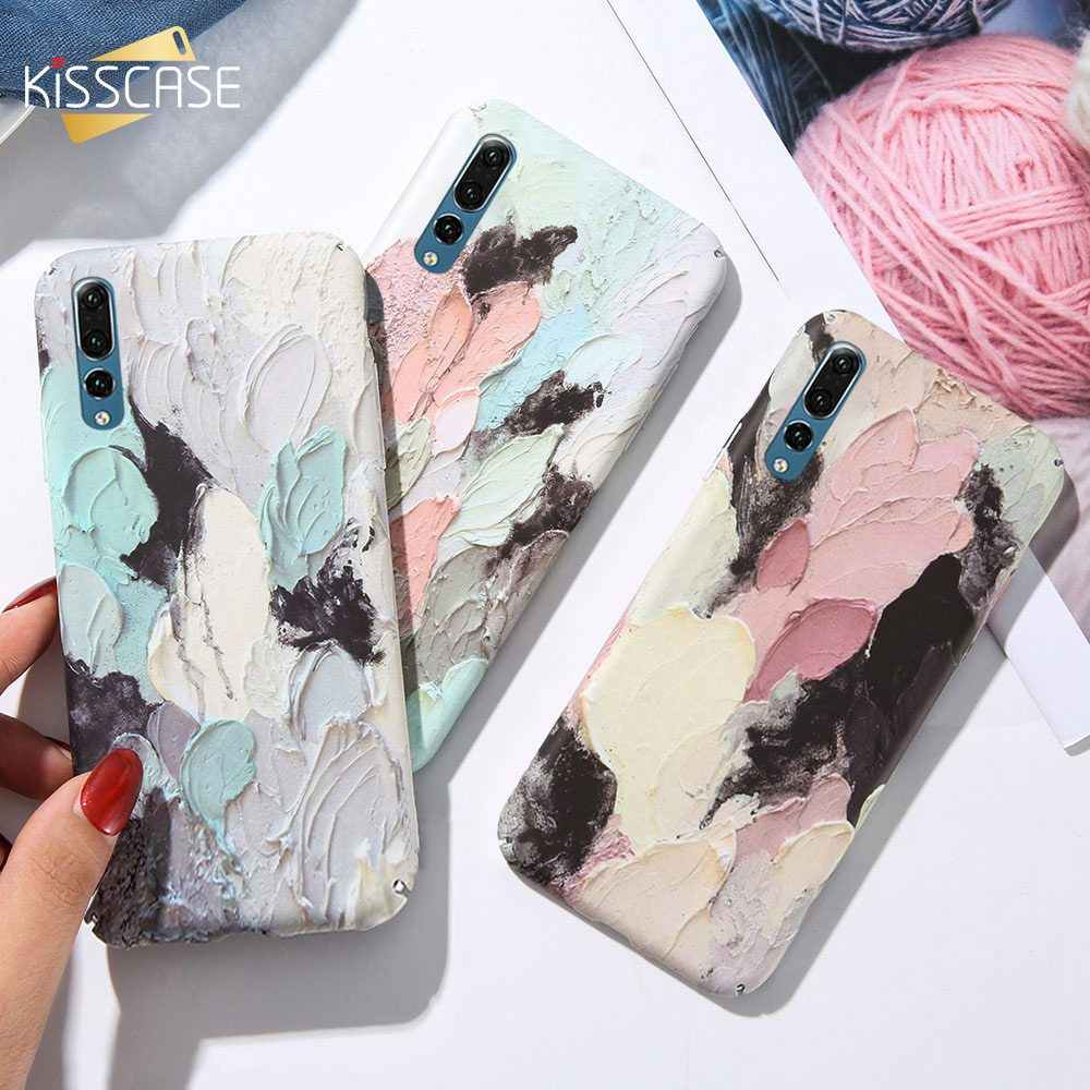 KISSCASE luminosa funda del teléfono para Huawei P20 P10 amigo 20 10 Lite Pro P Smart Y9 relieve casos por el Honor. 8X 9 10 Lite cubierta Funda for funda huawei p20 lite mate 20 lite for funda p20 pro p10 lite p smart