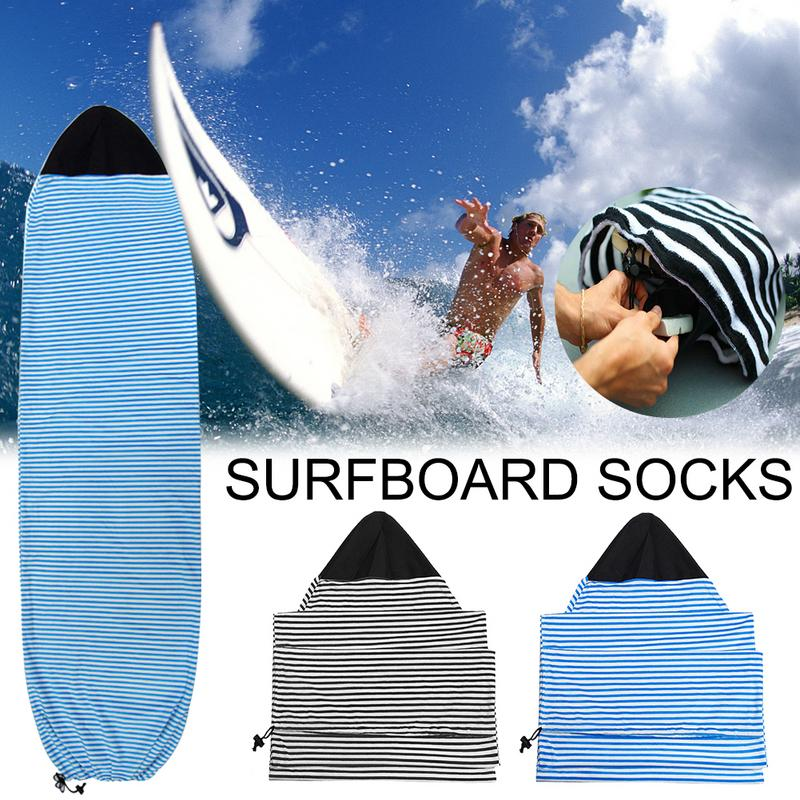 Top Quality Surfboard Socks Cover 6.3/ 6.6/7ft Surf Board Protective Bag Storage Case Water Sports For Shortboard Surfing Sports
