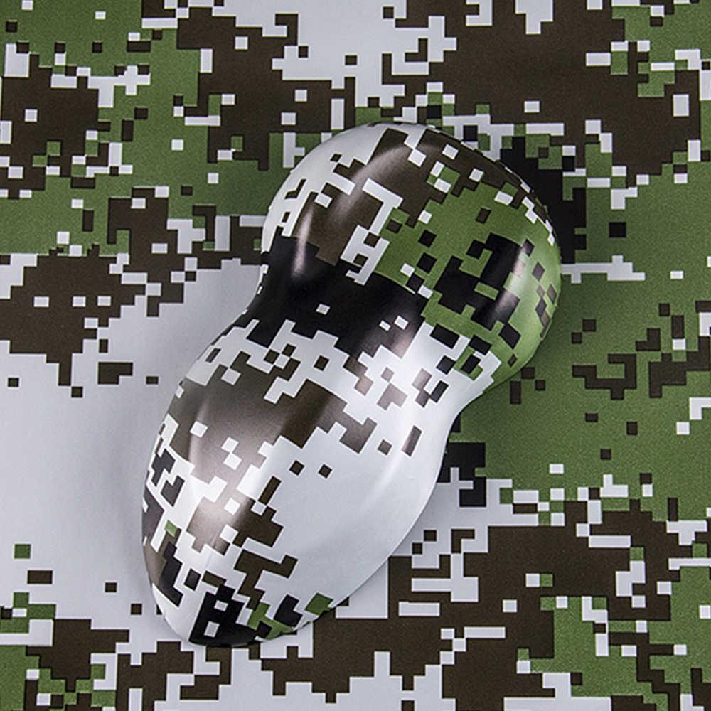 20cm * 152cm araba şal filmi kamuflaj vinil PVC dijital Woodland yeşil çöl kamuflajı 3D araba çıkartmaları araba Styling ordu askeri