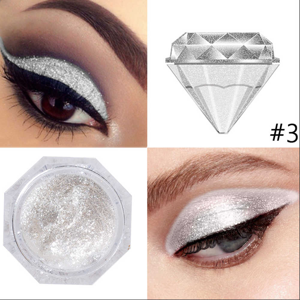 LANGMANNI diamentowy płynny cień do powiek w proszku Shinny Glitter makijaż oczu perłowy moda uroda kosmetyki 6 kolorów sombra TSLM1