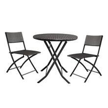 (Schiff Aus US) 3 Stücke/set Faltbare Möbel Gradienten Garten Rattan Kaffee  Tisch + 2 Stücke Stühle Househoud Hause Dekoration Home Garten Tisch.