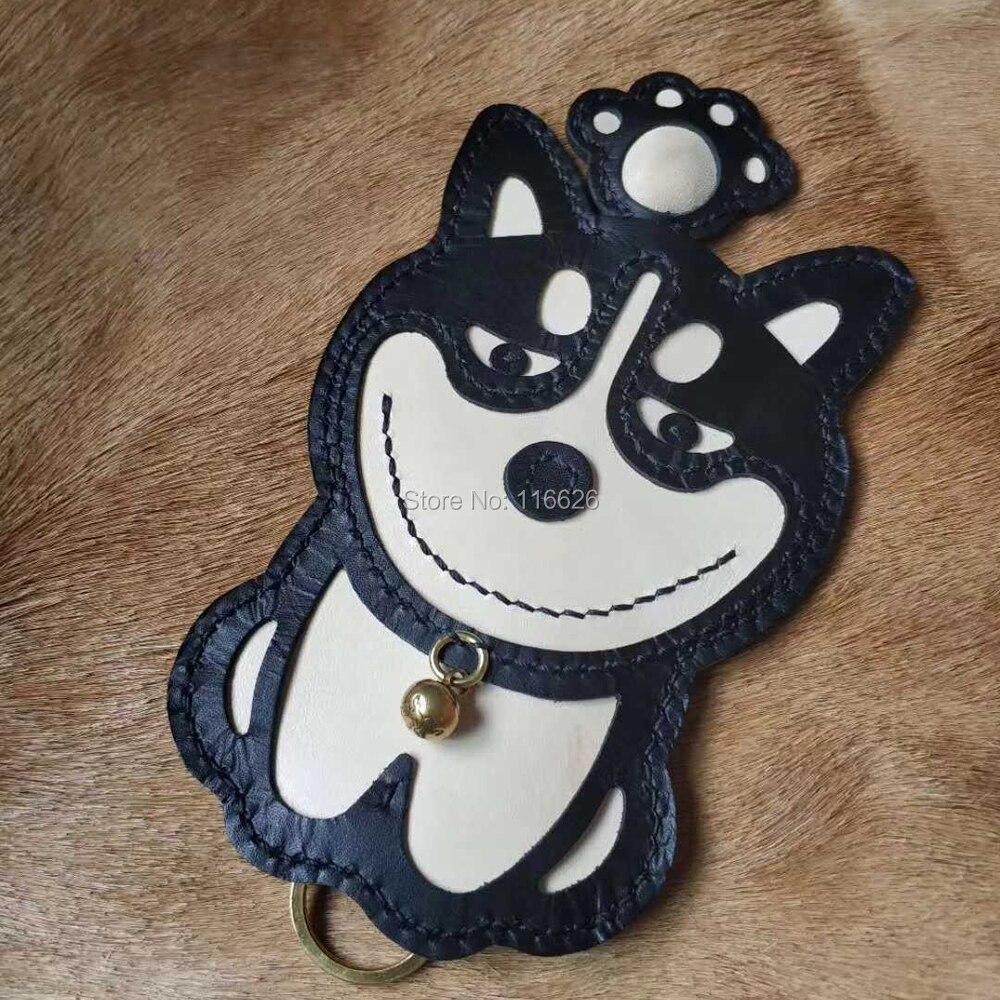 Artisanat cuir bricolage husky forme voiture porte-clés couteau de découpe moule main machine poinçon outil ensemble
