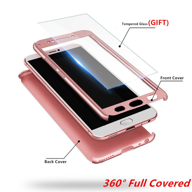 For Xiaomi Redmi 6 Case Xiaomi Redmi 6A Cover On For Xiaomi Redmi 6 Pro 360 Protective PC Case Tempered Glass Full Covered