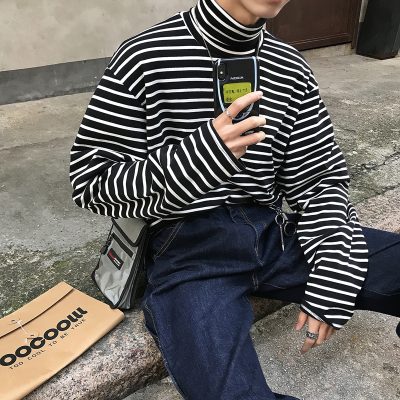 2019 Spring Trend Japanese Version Of The College Wind Large Size Men's Long-sleeved Loose Casual Small Fresh Simple Pullover