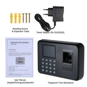 Image 5 - Máquina biométrica de atendimento à impressão digital, display lcd, usb, sistema de atendimento à impressão digital, relógio de tempo, funcionário, verificação no gravador