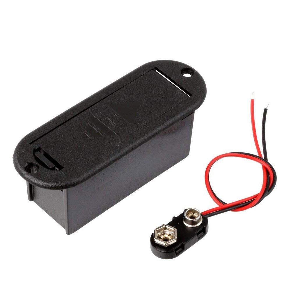 HFES 9V Battery Holder Case For Active Guitar Bass Pickup