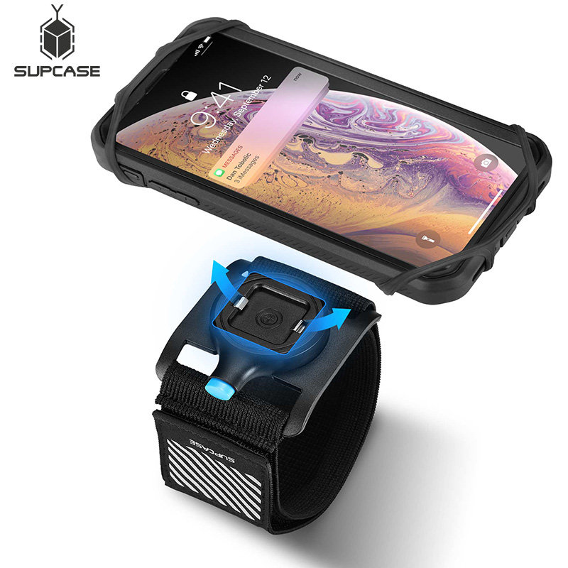 SUPCASE Quick Mount Running Phone Armband For iPhone X/XS Max/XR,For Galaxy Note 9/S9/S8 Plus,Detachable Workout Sports Arm Band-in Armbands from Cellphones & Telecommunications