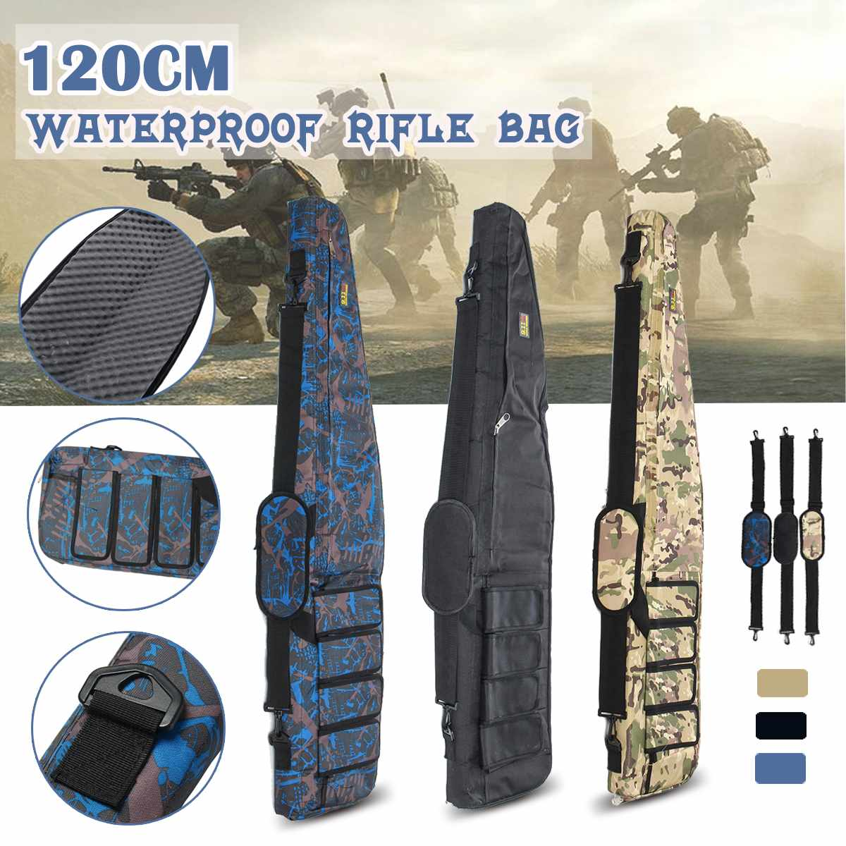 120x26cm Outdoor Storage Bag Tactical Backpack Hunting Fishing Military Bag Rifle Airsoft Guns Backpack