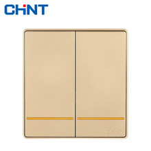 CHINT Wall Switch Socket NEW2D Electric Wall Switches Two Gang Two Way 16A Switch Plate chint lighting switches 118 type switch panel new5d steel frame four position six gang two way switch panel