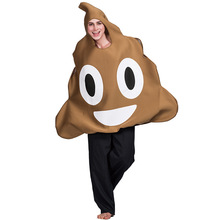 цена Funny Adult Poop Emoji Face Costume Cosplay Halloween Costume For Adult Carnival Performance Party Suit онлайн в 2017 году