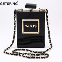 GETSRING Women Bag Clutch Bag Vintage Perfume Bottle Bag Transparent Evening Bag Day Clutch Acrylic Fashion Spring Messenger