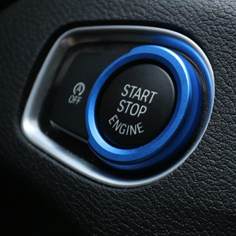 Car Engine Start Ignition Key Ring Cover <font><b>Stickers</b></font> for BMW X1 F48 <font><b>F20</b></font> F21 F30 F32 F33 F34 F36 F45 F46 1 2 3 4 Series Accessories image