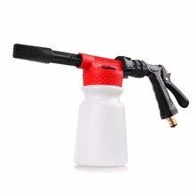 Onever Автомойка высокого давления, Пенообразователь для снега, водяной пистолет 900 мл, пистолет для чистки автомобиля, пистолет для мытья пены, пистолет для мытья пены, мыло, шампунь, распылитель