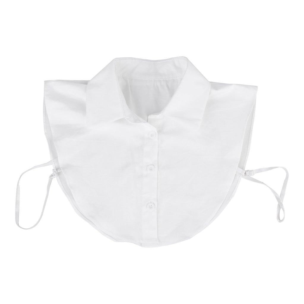 Genereus Vrouwen Afneembare Half Shirt Blouse Kraag Wit
