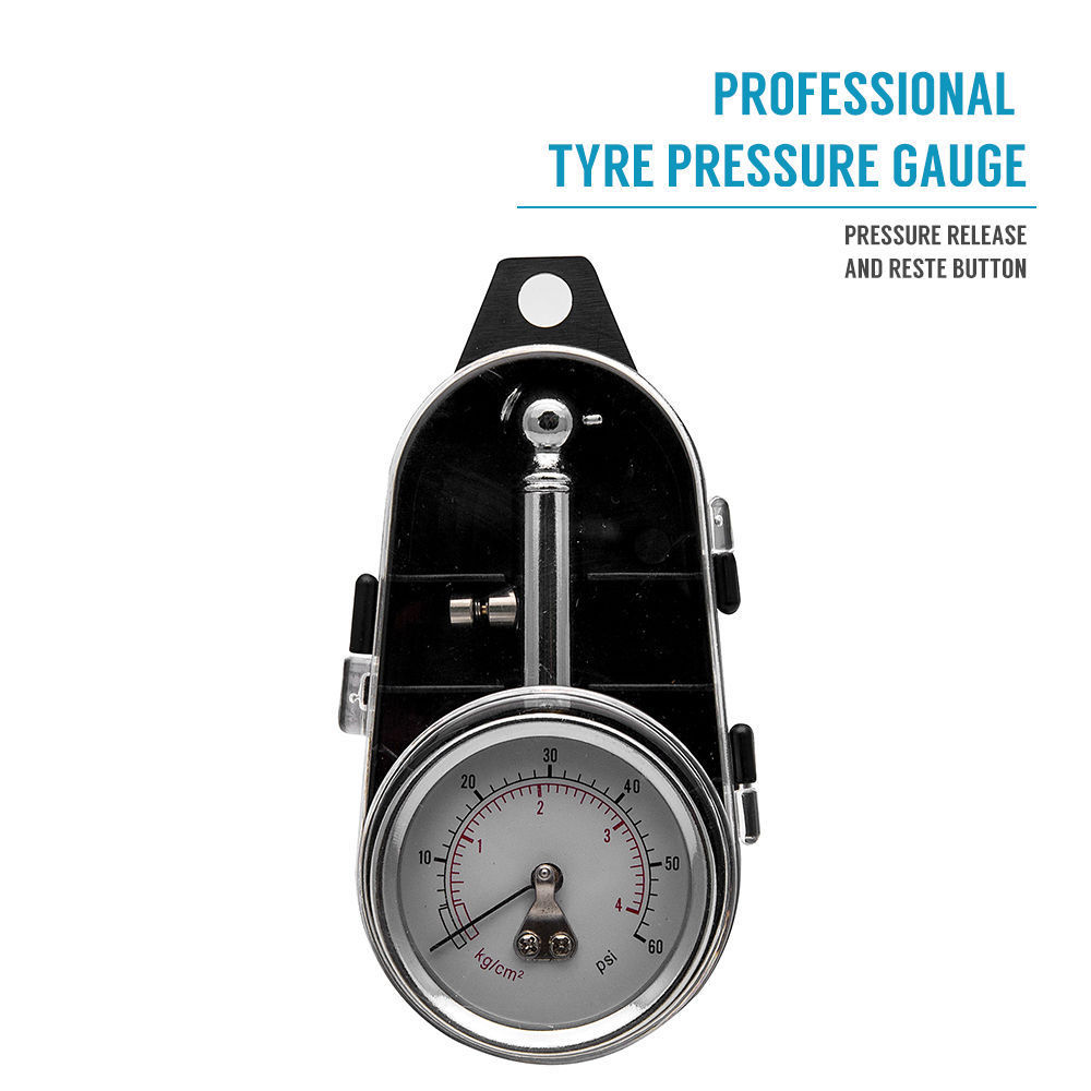 0-60 PSI Car Truck Auto Car Tyre Tire Air Pressure Gauge Dial Meter Tester