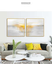 Special Oil Painting Artist Hand-painted High Quality gold Knife Modern Abstract Grey golden