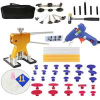 57pcs/Set Metal Painless Dent Repair Dent Lifter Glue Puller Tab 20W Glue Machine Hail Removal Paintless Car Dent Repair Tools