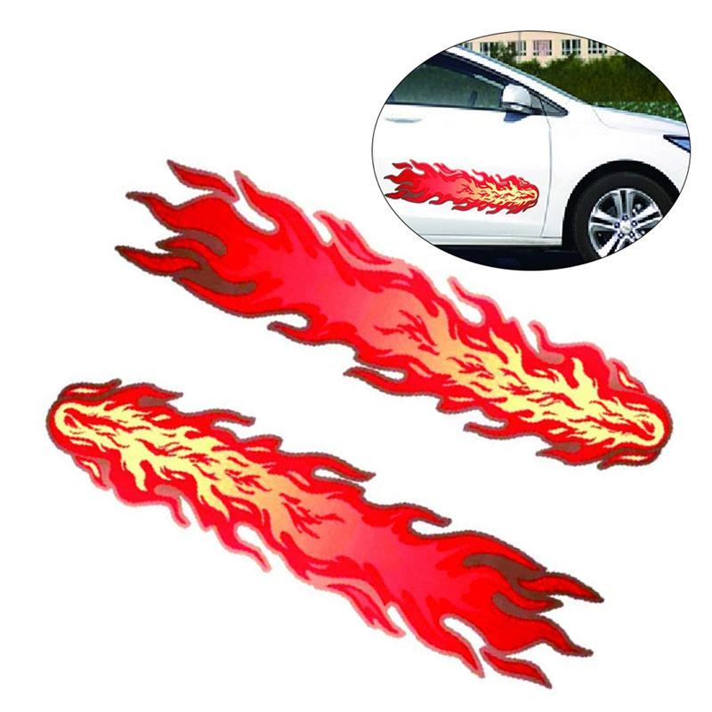30x22cm Flame sticker for motorcycle fire waterproof scooter road off ATV bike
