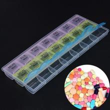 7 дней в неделю прозрачный 21 Отсек крышка таблетки коробка держатель для хранения лекарств Органайзер Чехол Контейнер