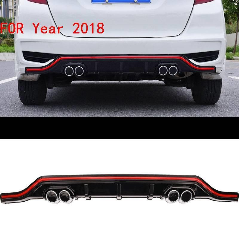 Exterior tuning Car Front Rear Diffuser Lip Mouldings Accessories Parts Decorative Styling Bumpers protector 18 FOR Honda Fit in Bumpers from Automobiles Motorcycles