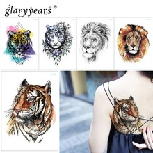 f2346e836 glaryyears 15*21cm Temporary Tattoo Sticker Fake Tatoo Animals Flash Tatto  Waterproof