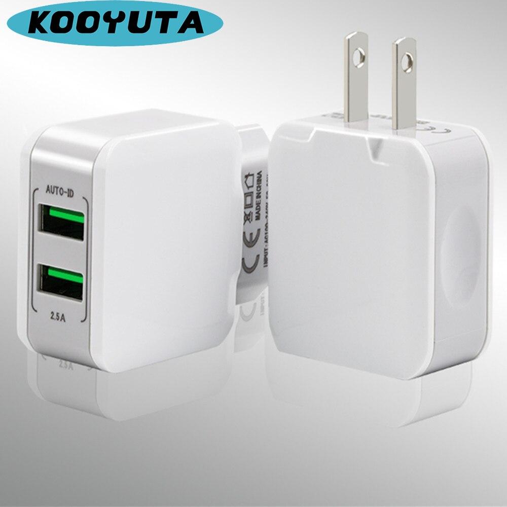 Universal 12.5W EU/US Plug  Mobile Phone Travel Charger Dual USB Wall Charger Adapter For iphone Samsung Xiaomi suporte de celular para parabrisa