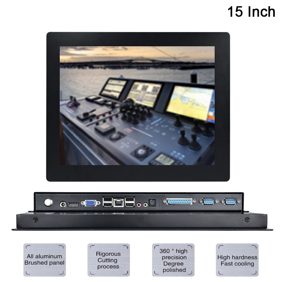 15 Inch LED Industrial Panel PC,Intel Celeron J1900,Windows 7/10/Linux Ubuntu,5 Wire Resistive Touch Screen,[HUNSN DA09W]