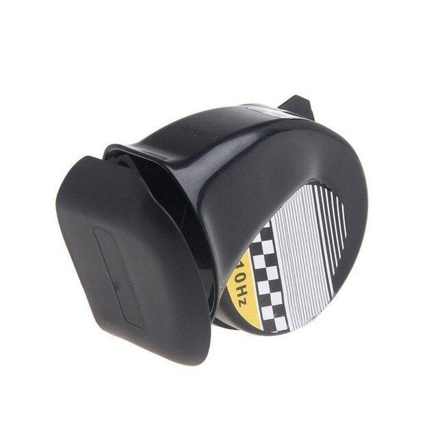 12 V 130DB señal Universal de los cuernos del coche para los camiones del vehículo del coche de la sirena del cuerno del coche negro de la señal del caracol accesorios
