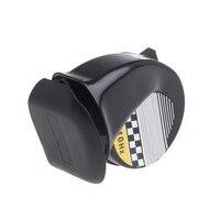 12 v 130db buzinas de carro universal sinal para caminhões de veículos automóveis sirene chifre do carro caracol preto à prova dwaterproof água buzina acessórios do carro Buzinas Automóveis e motos -