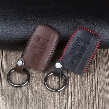 цена на Leather Car Remote Key Fob Shell Cover Case for Land Rover RANGE ROVER SPORT Evoque Freelander 1 2 Found 2 3 4 A8 For Jaguar XF