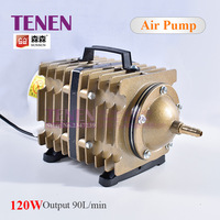 SUNSUN ACO 007 120W 90L/min Electromagnetic Air Pump With Check Valve Air Stone Water Pipe For Laser Machine Ash Remove Aerator