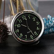 Car Clock Quartz Watch Round Needle 4cm/1.6inch Type Car Black 0.03kg Clock Luminous Function General