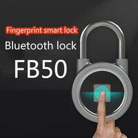 À prova dbluetooth água bluetooth impressão digital cadeado fechadura inteligente keyless fechadura da porta mini para o telefone/android fechadura da porta