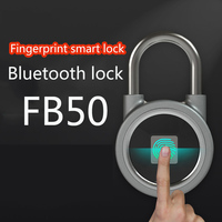 Waterproof Bluetooth fingerprint padlock intelligent lock Keyless Fingerprint Lock Mini Door lock for Phone/Android door lock