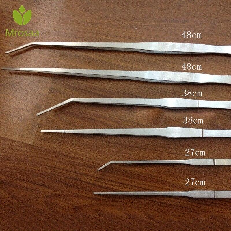 Straight/Elbow Fish Tank Tweezers Pliers Plants Tweezers Forceps Clip Aquarium Maintenance Tools 27cm/38cm/48cm