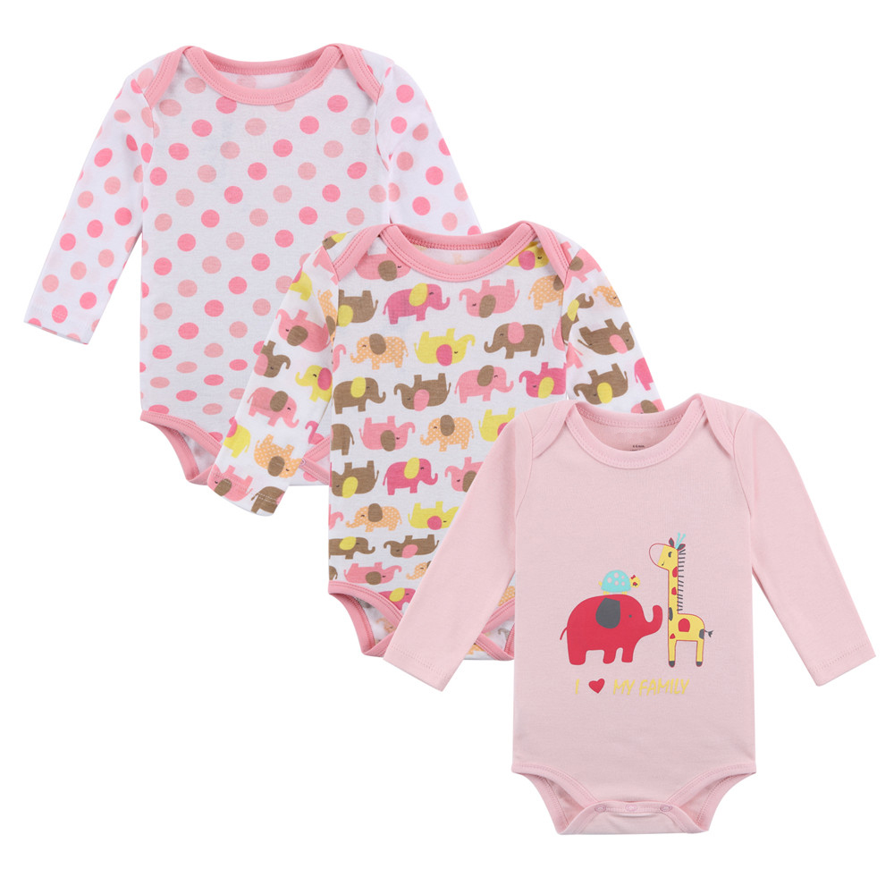 Fairy tale baby girls long-sleeved pink elephant tights 3 piecesFairy tale baby girls long-sleeved pink elephant tights 3 pieces