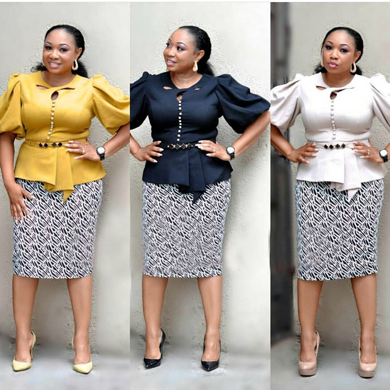 2019 Autumn Elegent Fashion Style African Women Plus Size Suits M-2XL