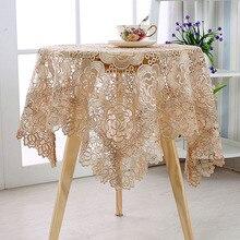Vintage Hollow Lace flor tapete de mesa Rectangular mantel cubierta hogar jardín boda fiesta Navidad decoración hogar Hotel textil