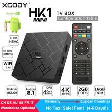 XGODY HK1 Mini Smart TV BOX Android 8.1 RK3229 Quad-Core 2G+