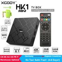 XGODY HK1 Mini Smart TV BOX Android 8.1 RK3229 Quad Core 2G+16G Set top box WIFI 2.4G media BOX TV Receiver