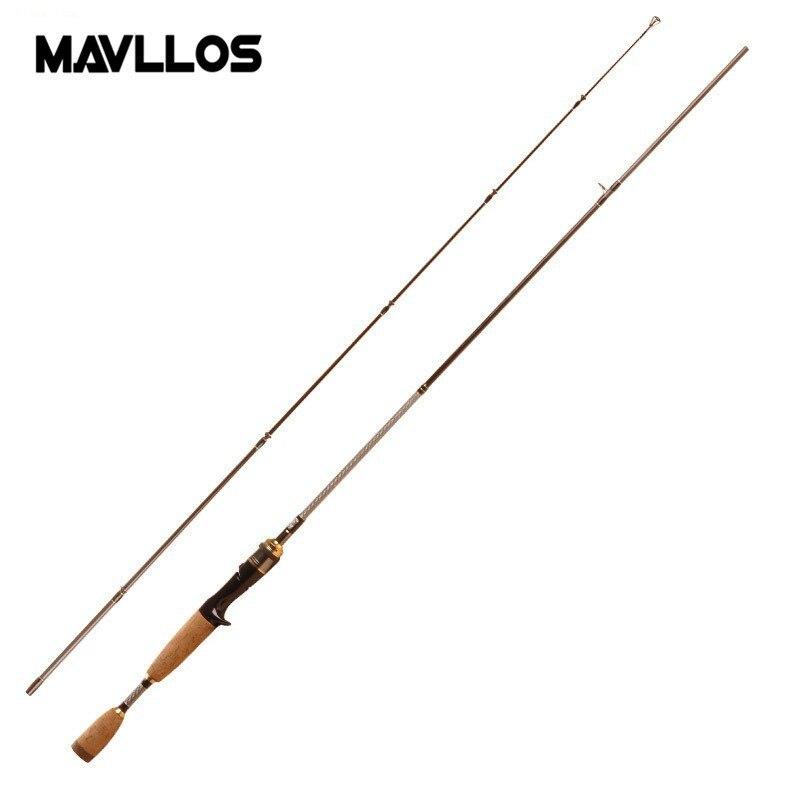 Mavllos Carbon Faser 1,68 mt M Power Casting Rod Lure Gewicht 7-21g Zwei Abschnitt Salzwasser Köder Angeln stange Unterstützung 8-20lb
