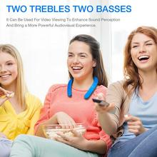 Portable Neckband Wearable Speaker Lightweight Wireless Bluetooth 5.0 Speaker Listen Music Watch TV Theater Sound Hands-Free