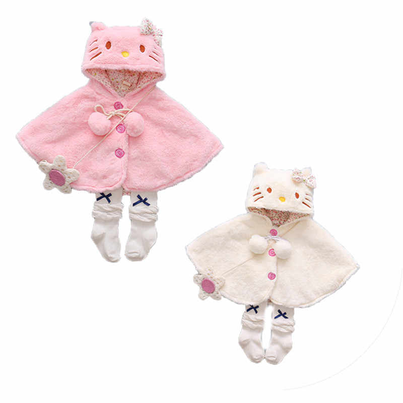 CANIS Winter Warm Newborn Baby Girl Coat  Clothes Hooded Cloak Poncho Outwear Warm Bebe Girls Winter Jacket With Fur Clothing