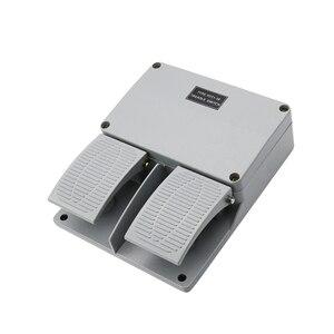 Image 1 - สวิทช์เท้าYDT1 16 อลูมิเนียมสีเทาคู่เหยียบเครื่องมืออุปกรณ์เสริมสวิทช์