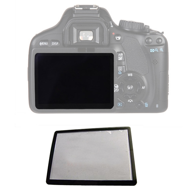 10pcs חיצוני חיצוני LCD מסך מגן חלקי תיקון עבור Canon 5D 5D2 6D 40D 50D 60D 400D 450D 500D 550D 600D 1000D1100D SLR