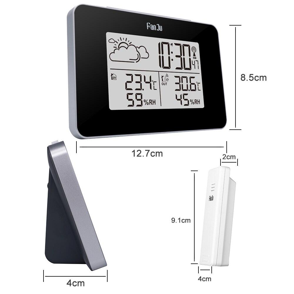 FanJu FJ3364 Digital Alarm Clock Weather Station Wireless Sensor Hygrometer Thermometer Multi-function LED Desktop Table Clock Pakistan