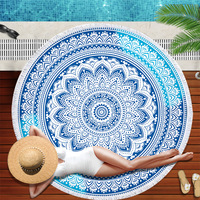 each Towel Round Microfiber Beach Towels for Living Room Home Decor Boho Style Bath Towels