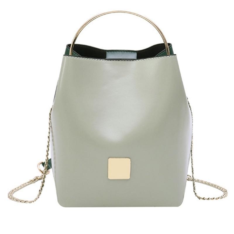 NEW-New Fashion Trend Metal Bucket Art Handbag Portable Chain Bucket-Shaped Handbag Shoulder Messenger Bag